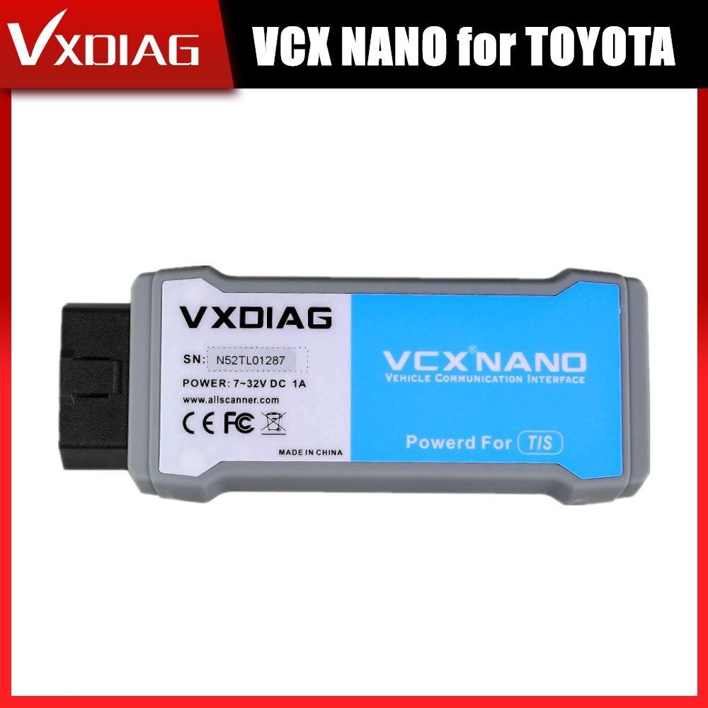 VXDIAG VCX NANO dla TOYOTA TIS Techstream V15.00.026 kompatybilny z SAE J2534 rok wsparcia 2000 do 2019