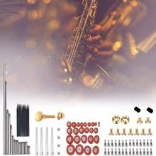 119 pçs/set alto sax saxofone peças de reparo parafusos + saxofone molas kit diy ferramenta woodwind instrumento acessórios