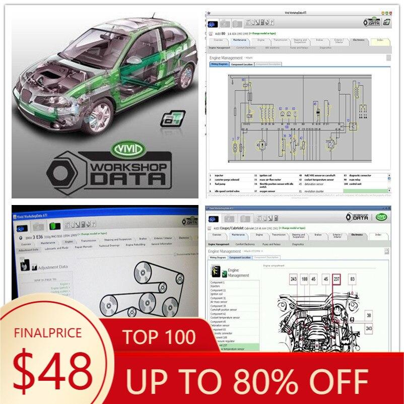 2020 Hot Auto motriz Vívida Oficina carro de dados Software de Reparação Automóvel 2010 DADOS Vívida Oficina 10.2 Frete grátis