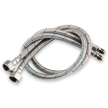 Sink Faucets Hoses Water Tap Inlet Hose Stainless Steel Wire Lengthened Long Soft Connection Fittings Faucet Hot and Cold Hoses