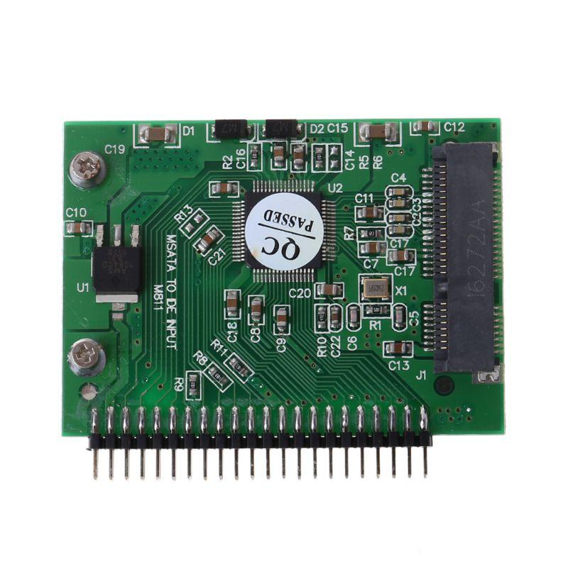 מקרנים ופלאזמות MSATA SSD דיסק קשיח ל 44 מתאם ממיר פין IDE 2.5 אינץ IDE HDD עבור מחשב נייד (1)