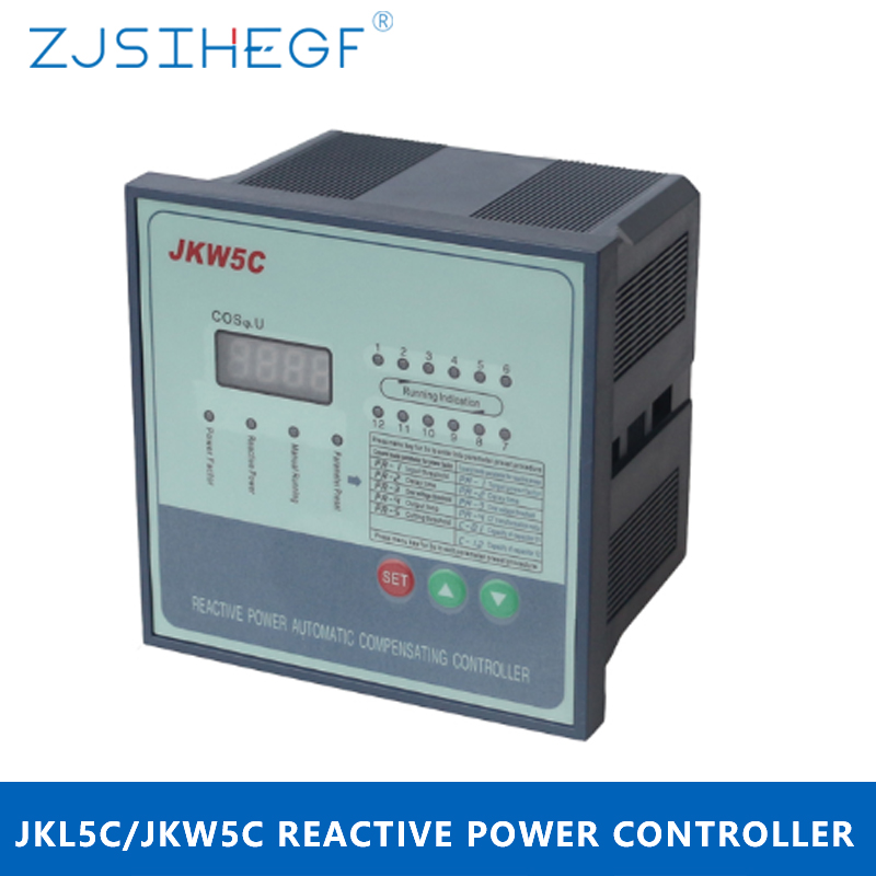 JKW5C/JKL5C 380V 4/6/8/10/12 Steps Reactive Power Factor Controller Automatic Compensation for Power Capacitor Bank