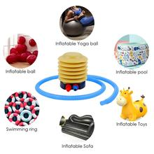 цена на Foot Pump Plastic Inflatable Yoga Ball Toy Bed Float Foot Air Pump Inflator with 106cm Tube Easy To Carry Accessories