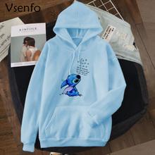 Harajuku Kawaii bluzy damskie bluza kobiety śliczne Anime koreański styl bluza z kapturem luźny pulower damska bluza z kapturem ubrania topy tanie tanio vsenfo COTTON Poliester spandex CN (pochodzenie) Zima REGULAR Pełna Polar Suknem women hoodies Swetry Drukuj Na co dzień