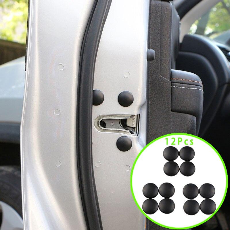 Daefar 12Pcs Car Interior Door Lock Screw Protector Cover Anti-Rust Cap Trim Stickers