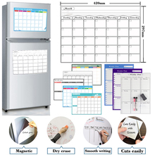 Sticker Calendar Whiteboard Table Monthly Planner Dry-Erase Fridge Weekly Magnetic Schedules