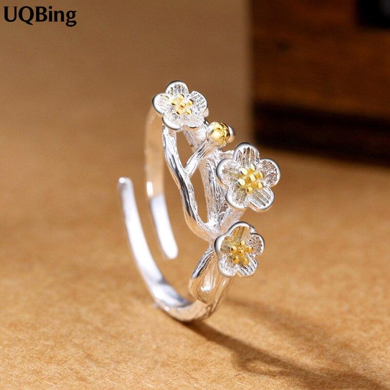 Novi dolasci 925 srebrnih prstenova za žene djevojke nakit zlatni - Fine nakit