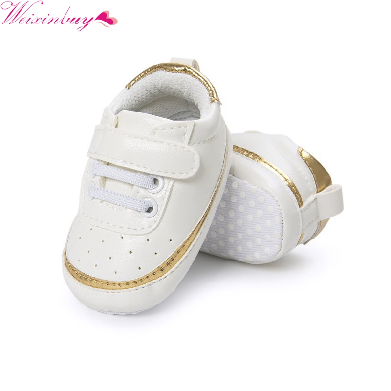WEIXINBUY Baby PU Leather Shoes Infants Girl Boy Soft Sole Sneakers First Walker 0-18Month