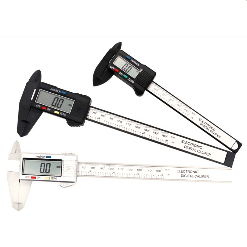 100mm/150mm 6 Inch LCD Digital Electronic Carbon Fiber Vernier Caliper Gauge Micrometer Measuring Tool