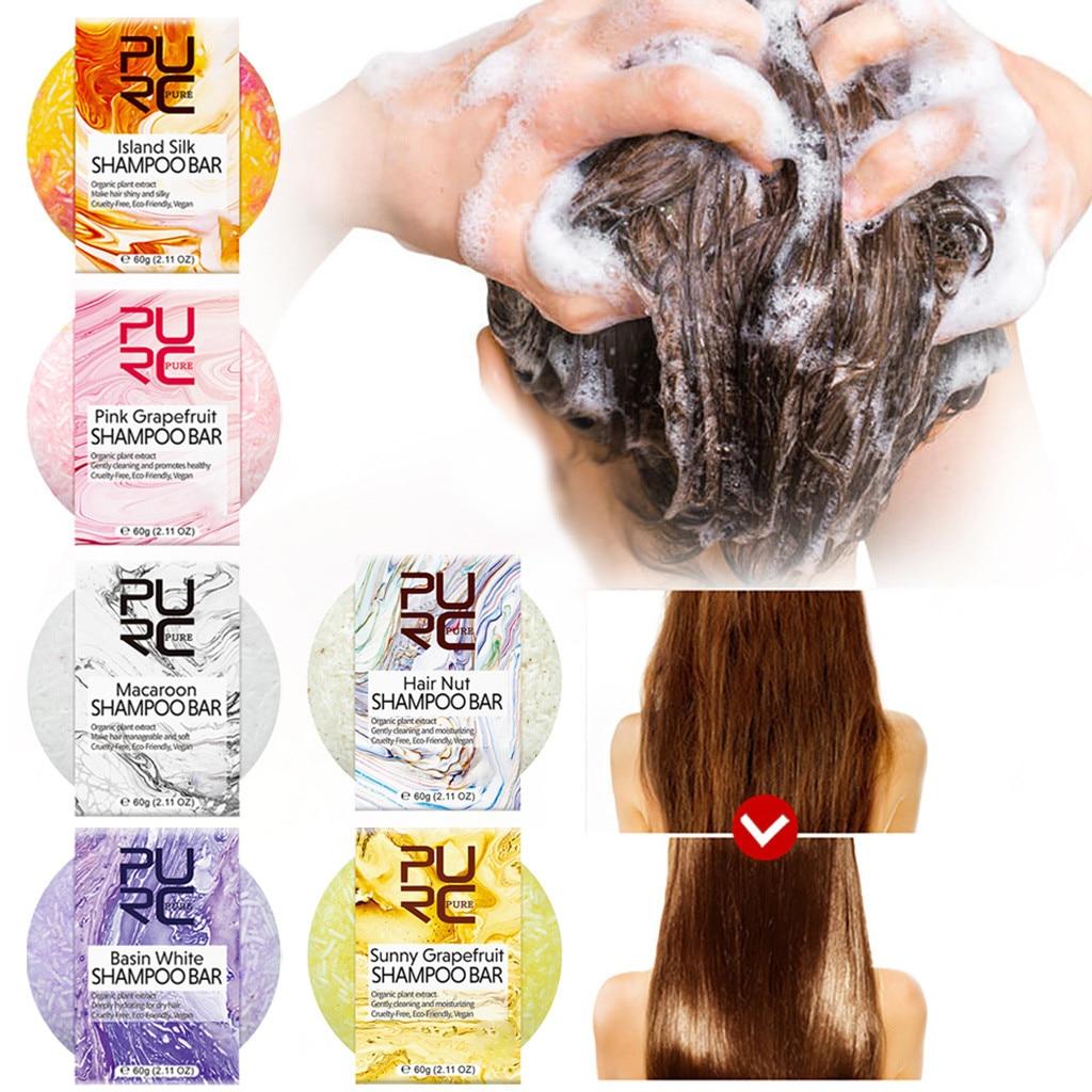 Silicone-Free Shampoo Soap Handmade Hair Shampoo Soap Natural Dry Oil-Control Anti-Dandruff Off Hair Care Shampoo Soap  #Zer