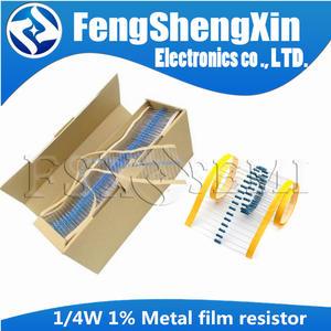 1/4w Resistor Metal-Film 100R 330R 2K2 47k-100k 10K 220R 22K 1r--1m 100-220-330 100pcs/Lot