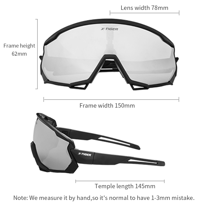 X-TIGER Polarized Wind Cycling Glasses Outdoor Sports Bicycle Glasses MTB Bike Sunglasses Goggles Mountain Bike Cycling Eyewear 2