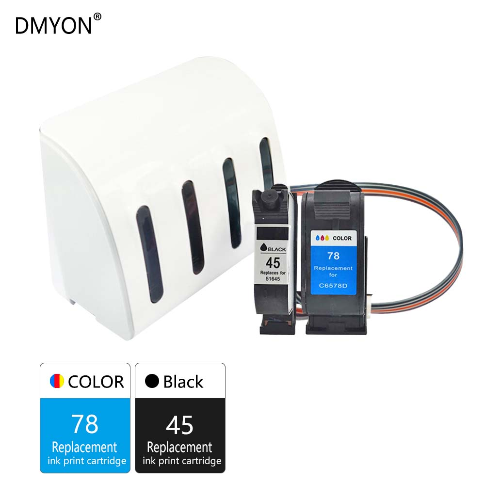 DMYON 45 78 CISS <font><b>Bulk</b></font> Ink Compatible for HP 45 78 Deskjet 1100 1115 1215 1220c 3820 3822 6122 6127 930c 932c 940c 950c Printer image