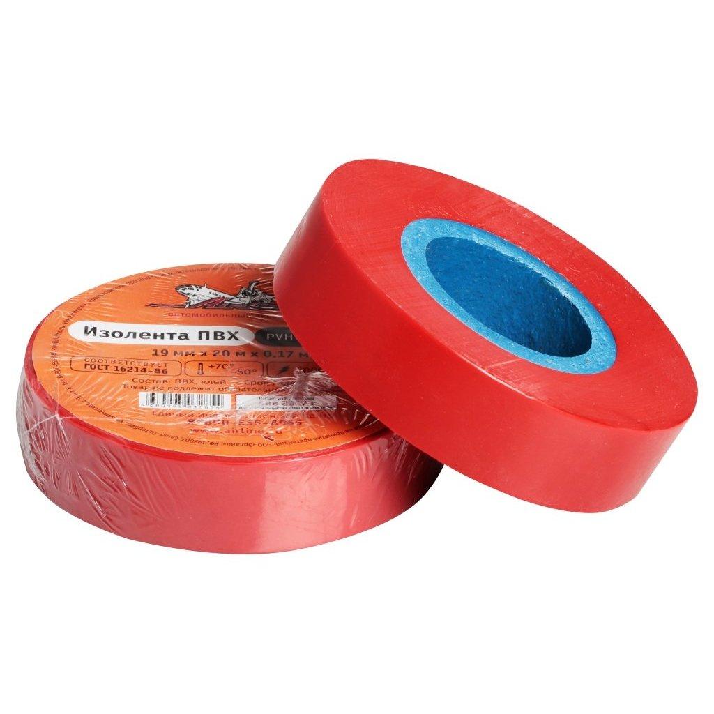Изолента ПВХ красная 19 мм*20 м AIRLINE AIT P 19|Изоляционные материалы и элементы| |