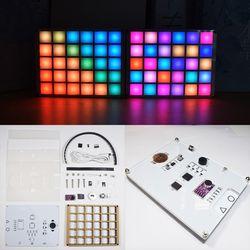 Wielofunkcyjny LED Cool Music spectrum kolorowy zegar paletowy elektroniczny zestaw zrób to sam|Analizatory widma|   -