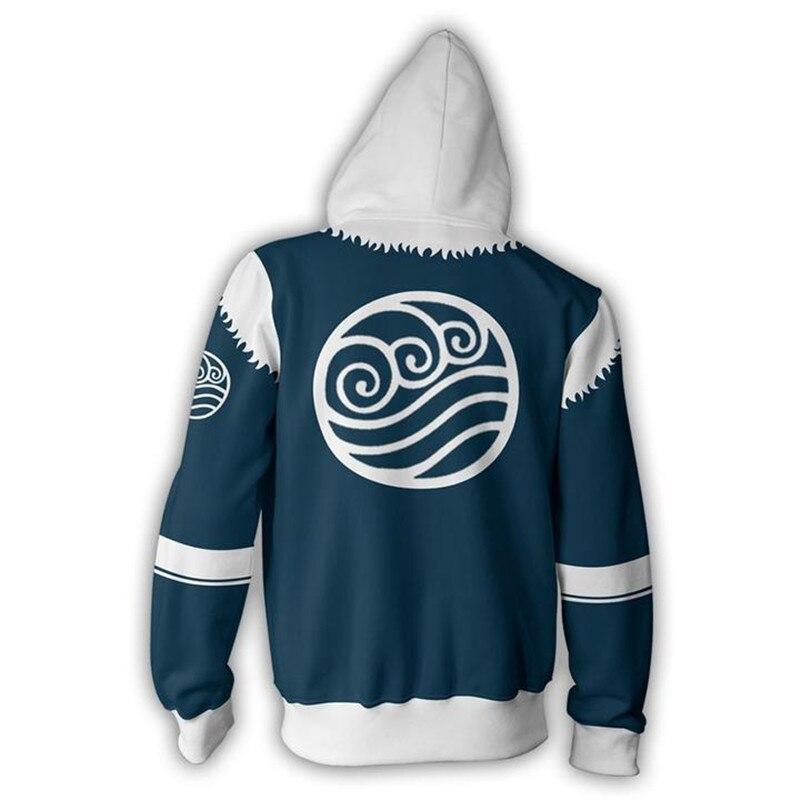 Men Women Avatar: Last Airbender Costumes Hoodies 3D Printing Cosplay Zipper Fashion Flame Sweatshirts Spring Autumn Jackets 3