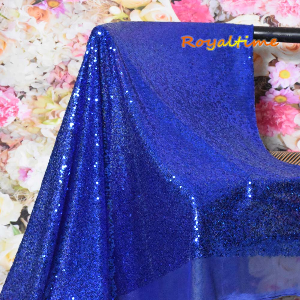 Royal Blue Sequin Fabric 003