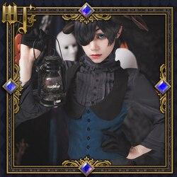 Preto mordomo cosplay ciel phantomhive cosplay traje trajes de halloween