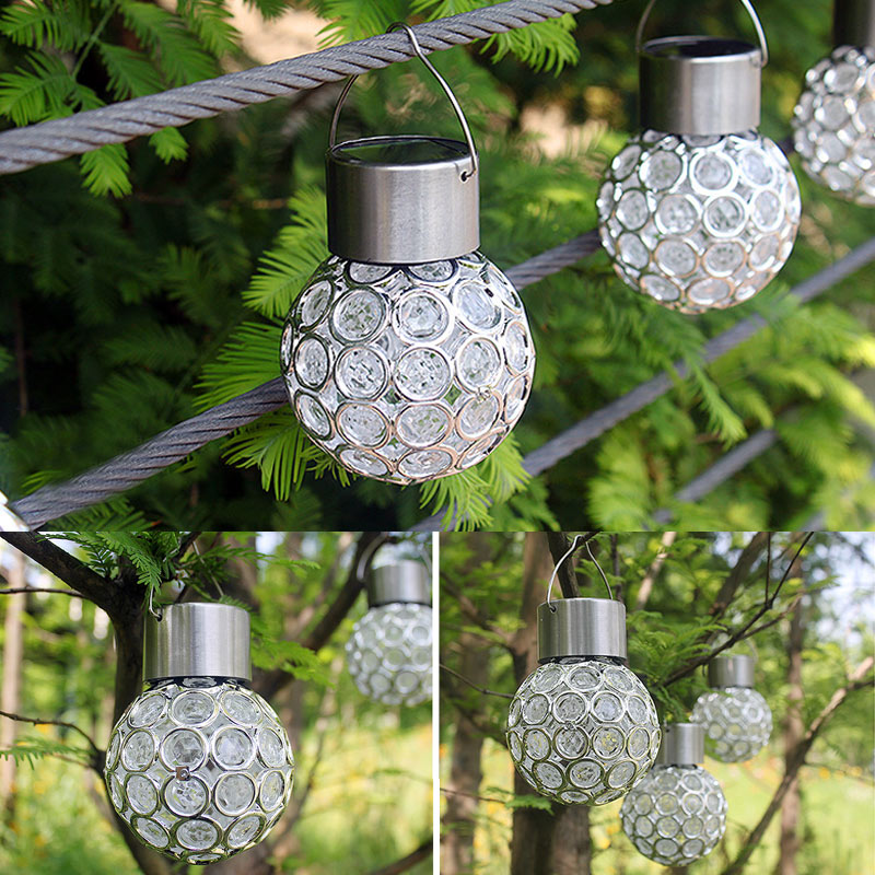 Solar LED Hanging Light Lantern Waterproof Hollow Out Ball Lamp For Outdoor Garden Yard Patio TSH Shop