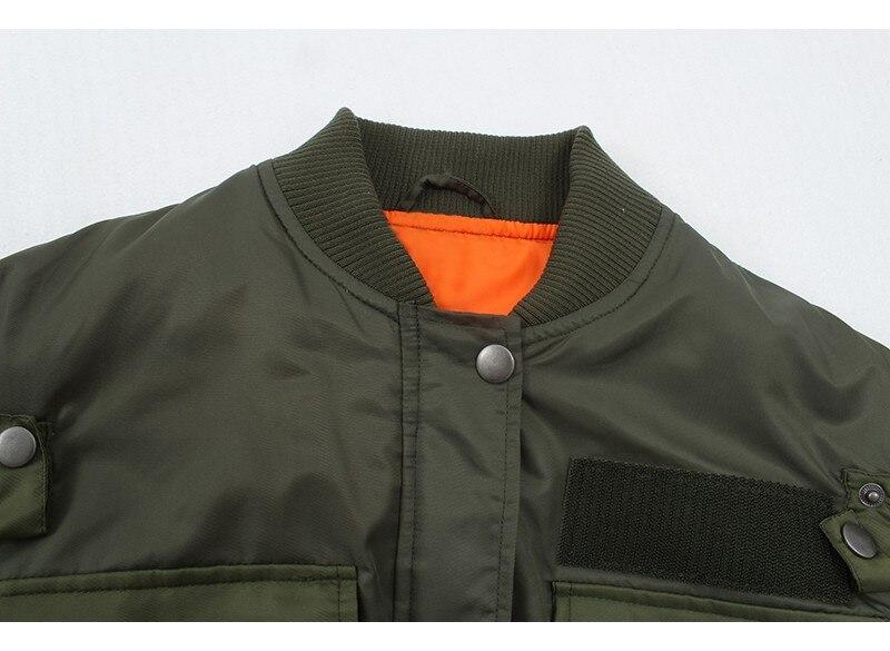 Hb0e9239fdc6a44a9848e136ff5cb55a7g Artsnie Autumn 2020 Bomber Jacket Women Army Green Warm Zipper Pockets Winter Coat Female Jacket Parkas Femme Chaqueta Mujer