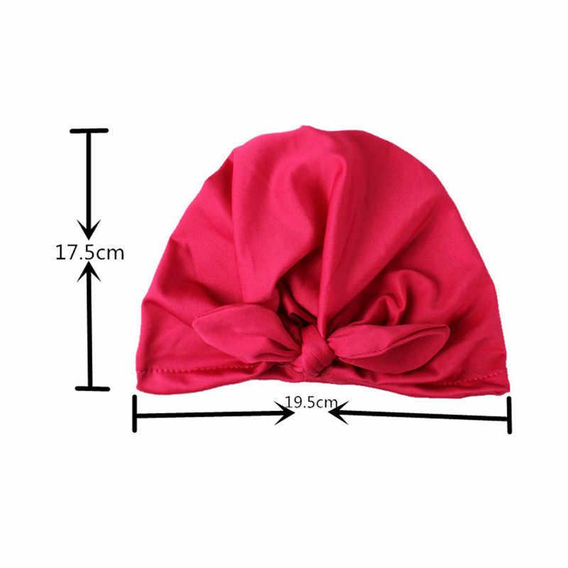 หมวกใหม่ทารกน่ารักเด็กวัยหัดเดินเด็กทารกสาว Turban หมวกผ้าฝ้ายหมวกหมวกฤดูหนาว