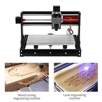 CNC 3018 Pro GRBL Control CNC Machine Wood Router Laser Engraver with Offline Controller ER11 5mm Extension Rod Woodworking Tool