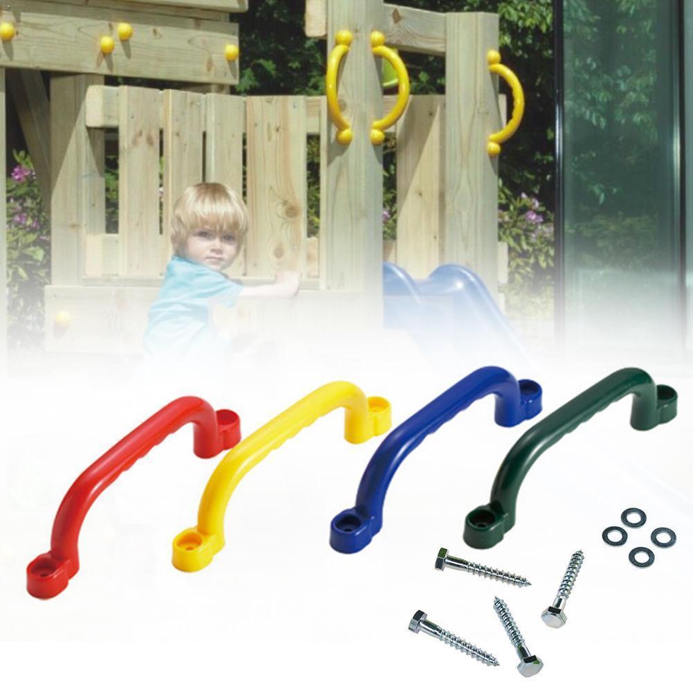 Kids Children Playground Safety Nonslip Grab Handles Accessories Mounting Hardware Toy Kits Frame Swing Climbing T4B3