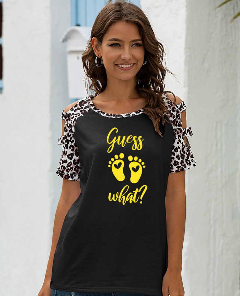 추측 어떤 발 인쇄 인쇄 여성 Tshirt 레오파드 라글란 슬리브 t-셔츠 Hipster 패턴 tshirt 선물 레이디 슬림 소녀 탑 티
