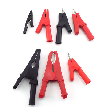 цена на 10A 50A Alligator Crocodile Clip Test lead Probes Battery Adapter Multimeter Pen Female Probe for 2mm 4mm Banana plug Cable Clip