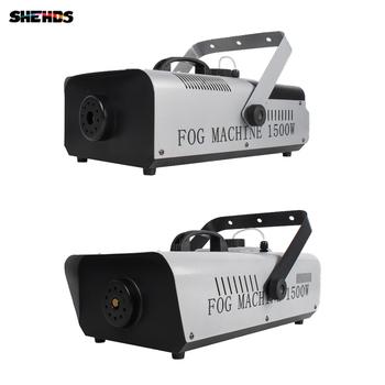 SHEHDS 1500W DMX RGB maszyna do dymu z bezprzewodowym zdalnym LED maszyna do mgły światła dj-skie oświetlenie dyskotekowe etap tanie i dobre opinie Rohs CN (pochodzenie) Efekt oświetlenia scenicznego Oświetlenie sceniczne DMX SHE-Smo1500WDMX 90-240 V Profesjonalne stage dj