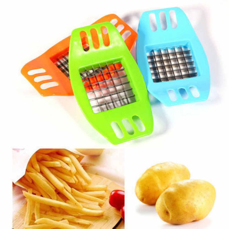 Familysky ABS Stainless Steel Potato Cutter Slicer Chopper Kitchen Shredders Cooking Tools Gadgets Kitchen Tools 2