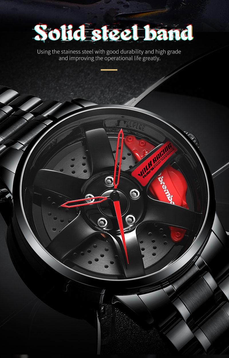 Hb0e9c99279504a91851f5893b8cd23adO NEKTOM Men's Watch Waterproof Sport Watch