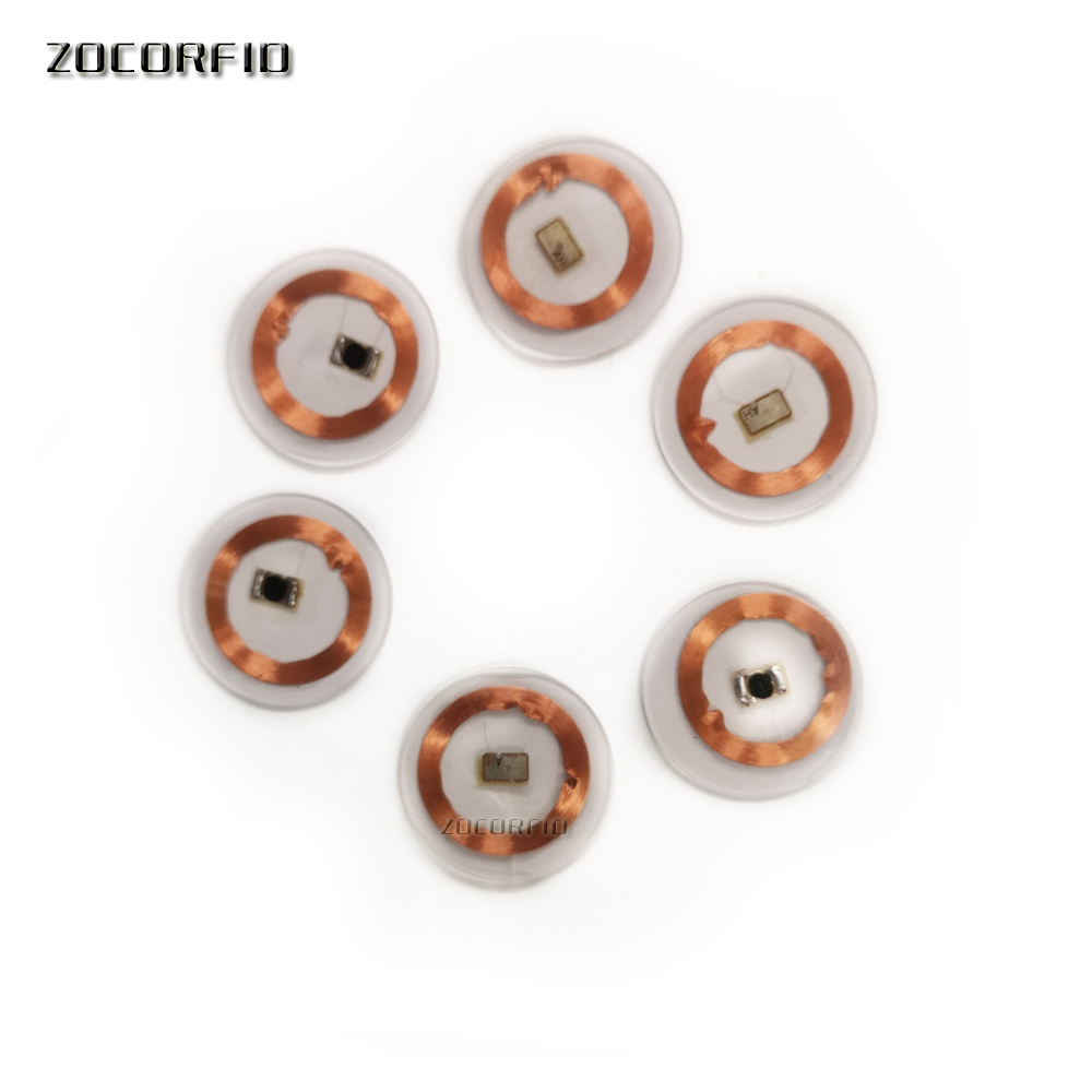 (100PCS/LOT) TK4100(EM4100) RFID 125khz  Coins 25mm Smart Tags Read-only With Transparent Plastic For 125KHZ Tag