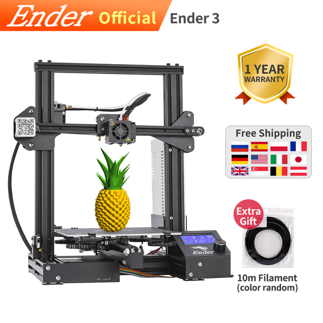 Ender 3 3D Printer Diy Kit Upgrade Hervatten Power Off Ender 3X Grote Print Maat 220*220*250Mm Creality 3D