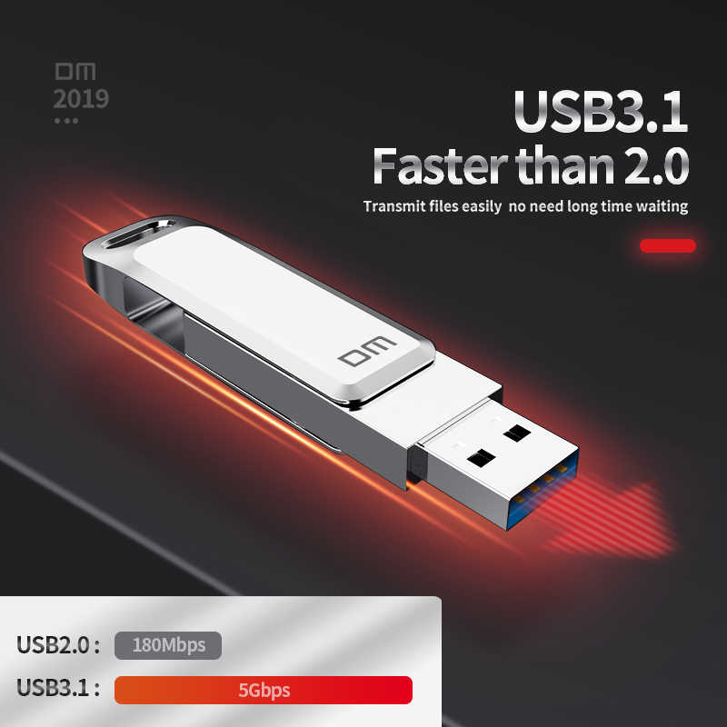 Флеш-накопитель DM USB C Type C USB 128 PD168 32 Гб 64 Гб 256 ГБ для смартфонов Android