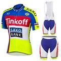Прямые продажи с фабрики! SaxoBank Tinkoff майки для велоспорта, Костюм Mtb, одежда для велоспорта, быстросохнущая одежда для велоспорта, дышащая Спо...