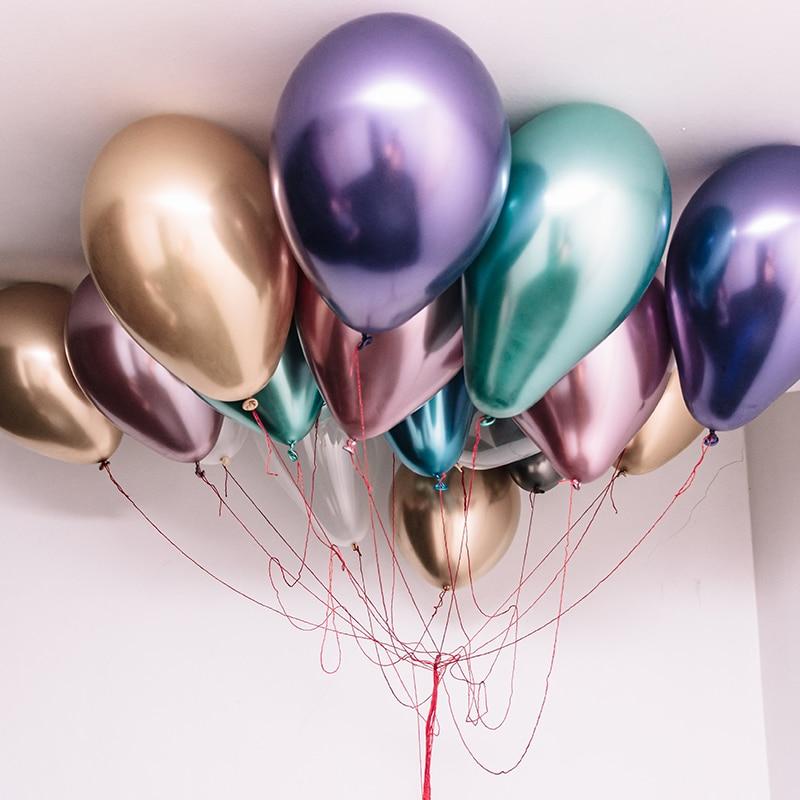 30/50 sztuk metaliczne balony ślub birthday party deco balony lateksowe balony anniversaire dec metalowe balony akcesoria na przyjęcia
