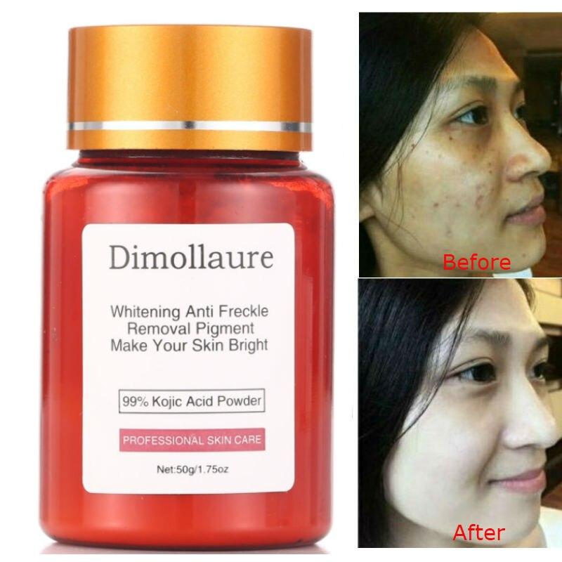 Dimollaure 50 г чистый 99% койевая кислота порошок отбеливающий крем для лица Лечение шрамов от веснушек, мелазмы от черных точек прыщей пигмент со...