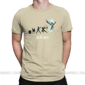 Image 3 - Seiya Evolution Men T Shirts Knights of the Zodiac Saint Seiya 90s Anime Awesome Tees Short Sleeve T Shirt 100% Cotton Plus Size