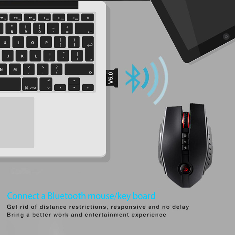 Creacube V5.0 Wireless USB Bluetooth 5.0 Adapter Bluetooth Dongle Music Receiver Wireless Adaptador Bluetooth Transmitter For PC