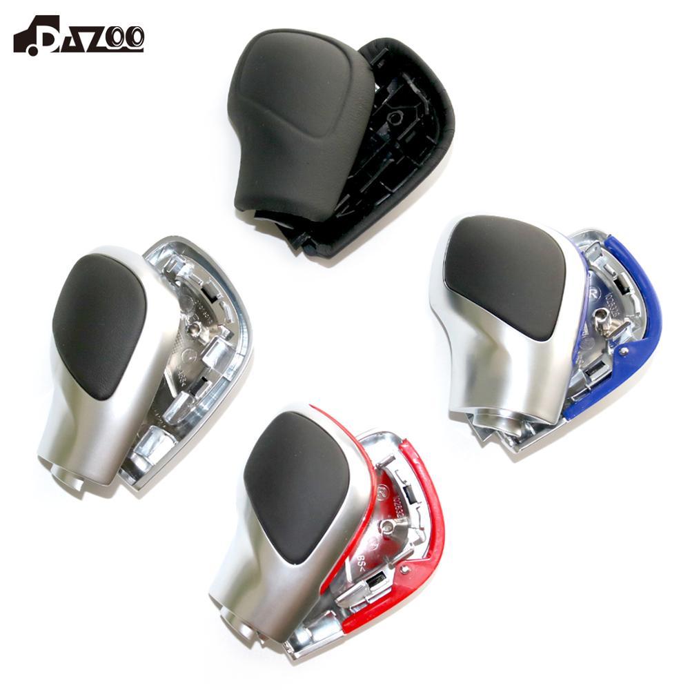 DAZOO cromo mate con cuero DSG pomo de cambio de marcha cubierta lateral DSG emblema para V W Golf 6 7 R Passat B7 B8 CC R20 J etta MK6 GLI