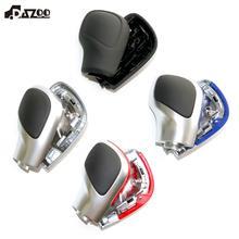 DAZOO perilla de cambio DSG de cuero, cromado mate, cubierta lateral, emblema DSG para V W Golf 6 7 R Passat B7 B8 CC R20 J etta MK6 GLI