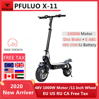 2020 Latest PFULUO X-11 Smart Electric Scooter 48V 1000W Motor 11 inch wheel Board hoverboard skateboard 50km/h Speed Off-road