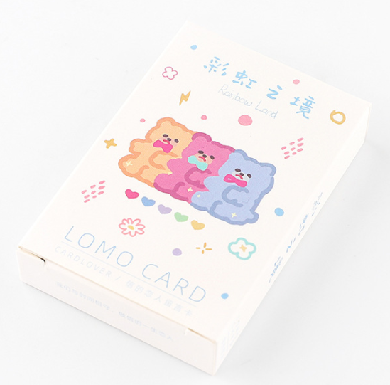 52mm*80mm Rainbow Boundary Paper Greeting Card Lomo Card(1pack=28pieces)