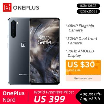 Перейти на Алиэкспресс и купить Новый смартфон OnePlus Nord 5G Snapdragon 76 5G 8 Гб 128 ГБ 48MP Quad Camera 90 Гц AMOLED дисплей 32 МП Двойная фронтальная камера