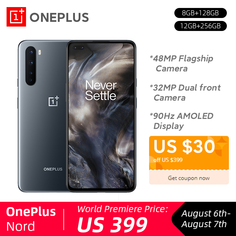 New OnePlus Nord 5G Snapdragon 765G 8GB 128GB 48MP Quad Camera 90Hz AMOLED Display 32MP Dual