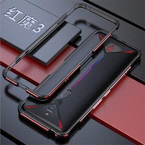 Nubia magia vermelha 3s caso moldura de metal cor dupla alumínio pára-choques proteger capa para magia vermelha 3s caso