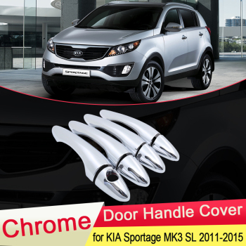 for KIA Sportage MK3 SL 2011 2012 2013 2014 2015 Chrome Door Handle Cover Exterior Trim Catch Car Cap Stickers Accessories ABS 1