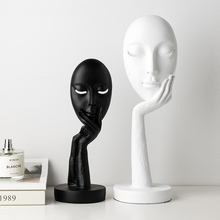 Modern Simple Ornaments Face Ceramic Statues Resin Living Room Accessories Tmas Decorations Adornos Para Casa Desk Decor AC50HC