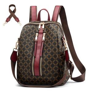 Image 1 - Sac à dos en cuir pour femmes, sacoche de styliste à épaule de marque, sacoche de voyage de luxe pour filles, 2020